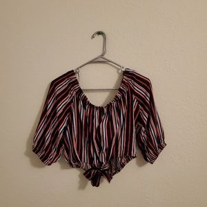 NWT Ambiance blouse, L, red and black